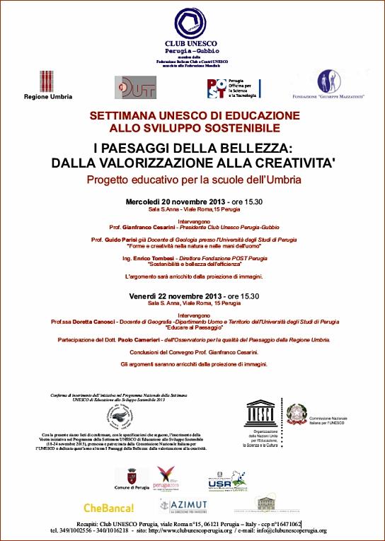 Progetto educativo per la scuole dell'Umbria