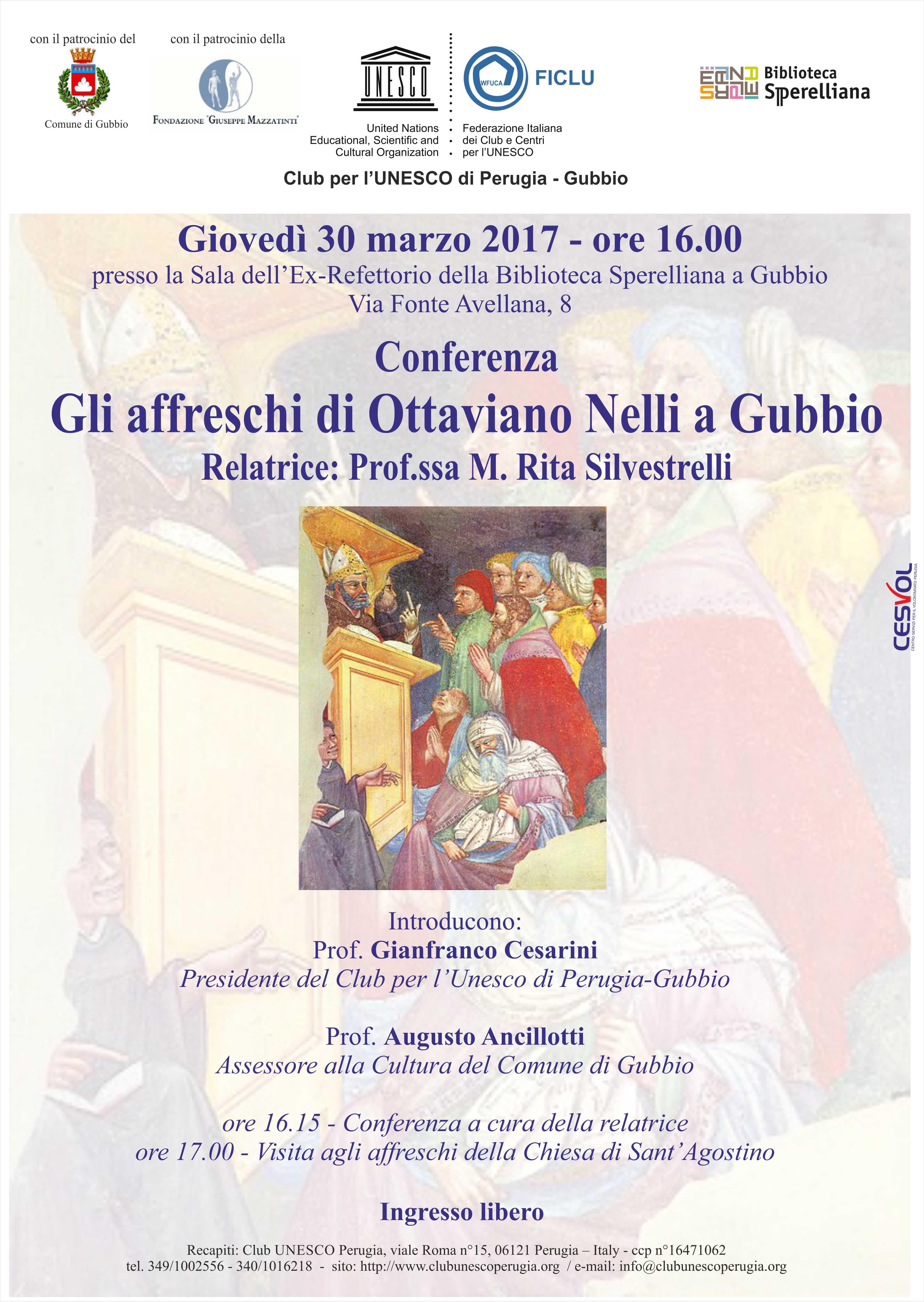 Evento Unesco 30 marzo 2017 - Gubbio