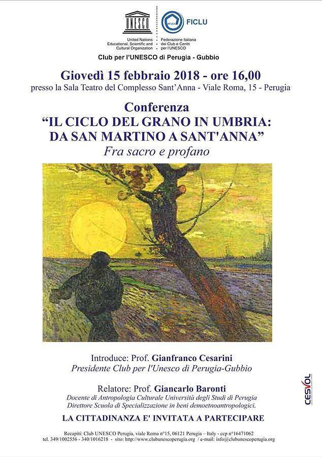 Unesco 15 febbraio 2018 CICLO GRANO