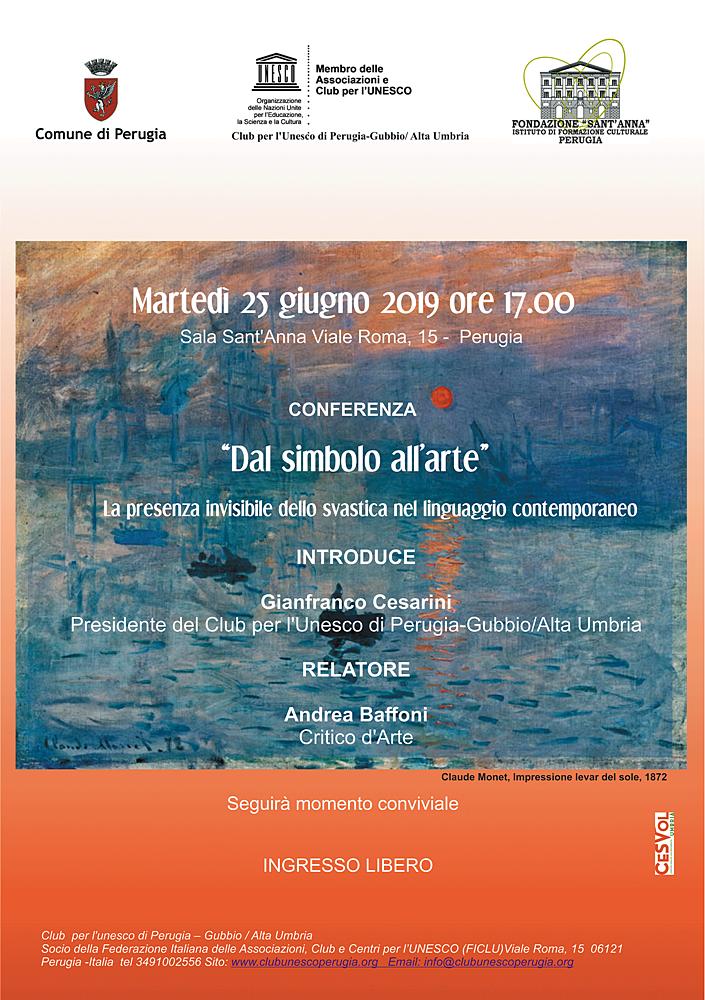 """Conferenza:""""Dal simbolo all'arte"""""""