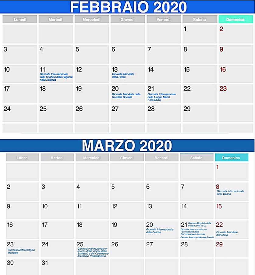 febbraio marzo 2020