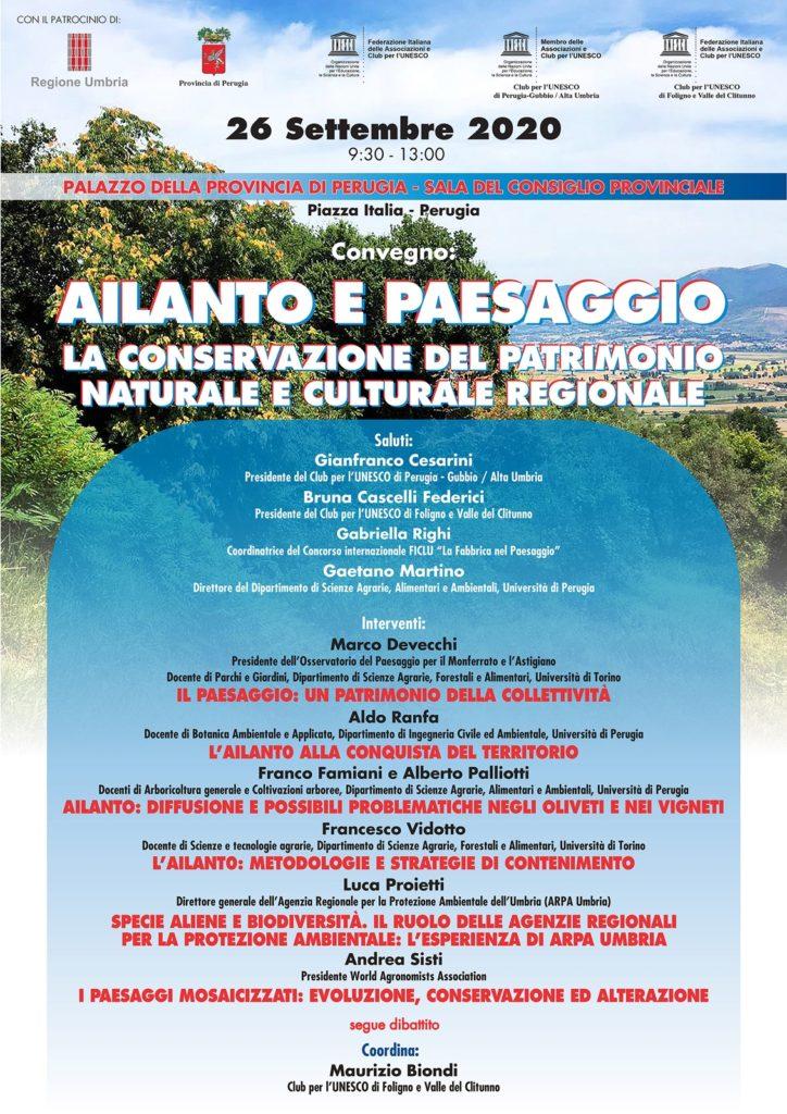 ALIANTO e PAESAGGIO- LA CONSERVAZIONE DEL PATRIMONIO NATURALE E CULTURALE REGIONALE
