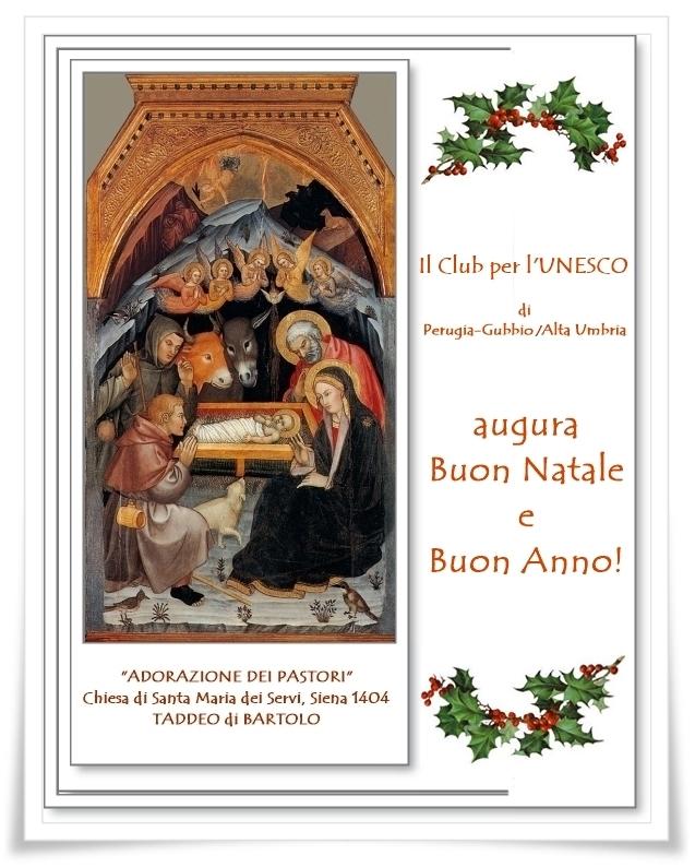 AUGURI da UNESCO Perugia-Gubbio/Alta Umbria
