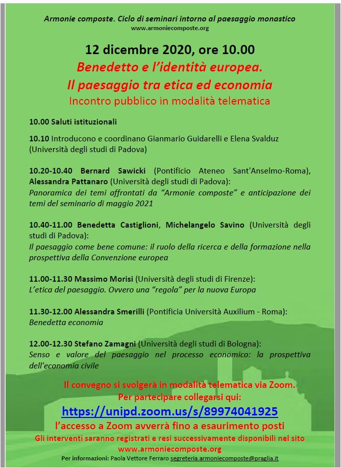 convegno Benedetto e l'identità europea
