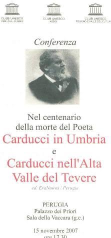 Locandina Conferenza su Carducci